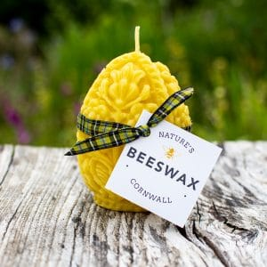 image of beeswax candle egg