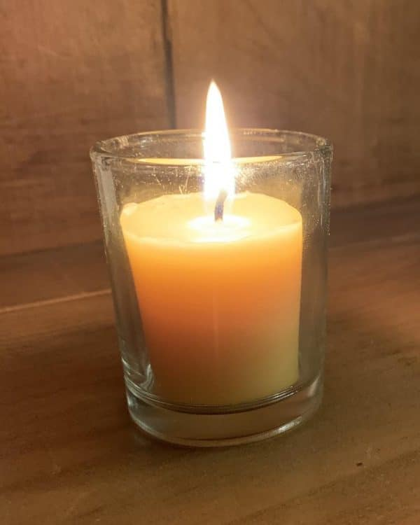 image of beeswax candle votive