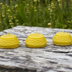 image of beeswax candles celtic