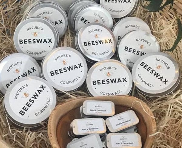image of beeswax for skincare tins
