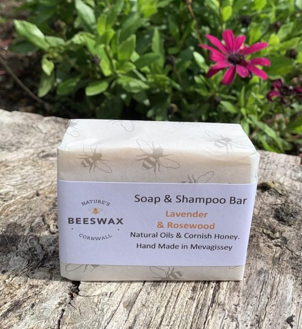 image of beeswax soap shampoo bar lavender