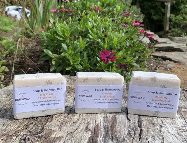 image of beeswax soap shampoo bars